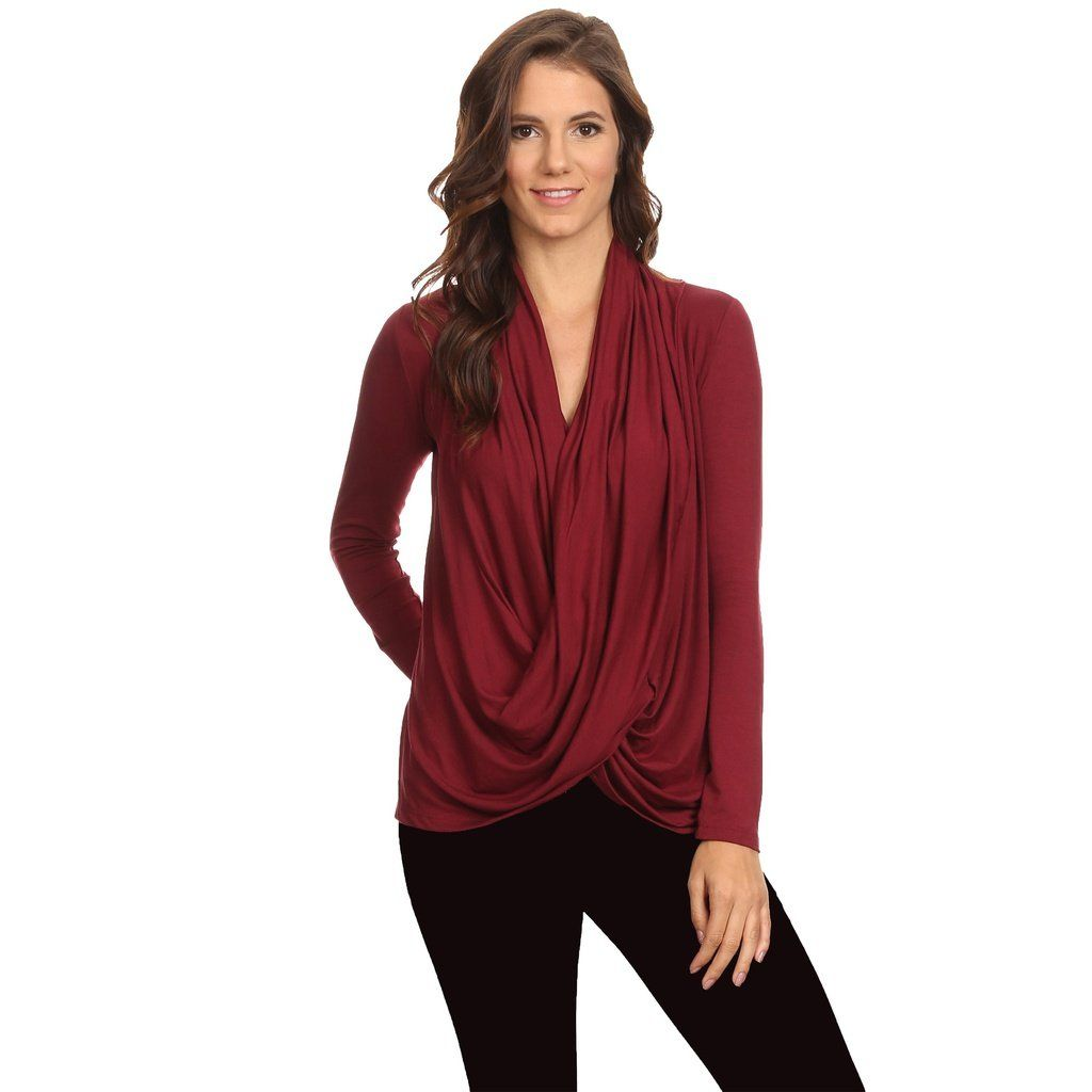 5ae951c446d Women's Long Sleeve Criss Cross Cardigan Small to 3XL Athleisure Made in USA