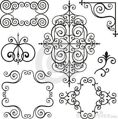 Wrough Iron Ornaments Wrought Iron Design Damask Pattern Iron Art