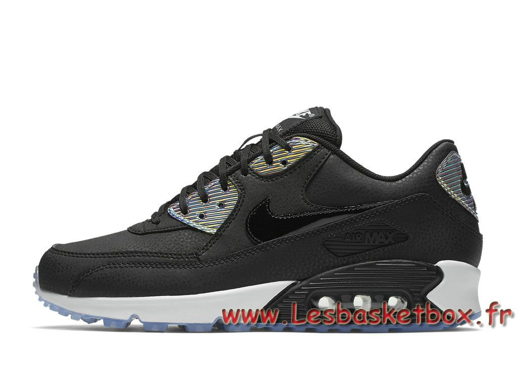 plus récent 195f5 7073d Nike Wmns Air Max 90 Premium Black Multicolor 443817_008 ...