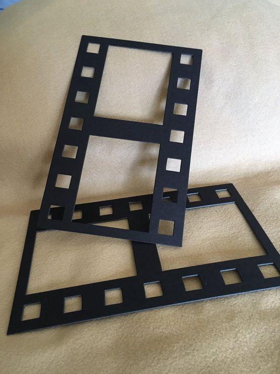 Black DIY Film Strip XL Frames-Blank Chipboard Filmstrip Shapes for
