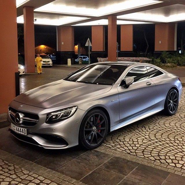 Mercedes Benz Amg S63 Follow Uber Luxury For More Via: @metrorestyling • Satin Grey #S63 Coupé Via @instacar_uae