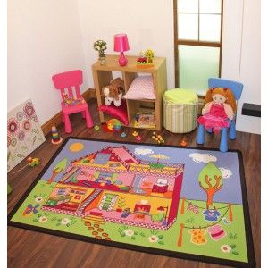 doll house childrens rug. the perfect mat for any little girls
