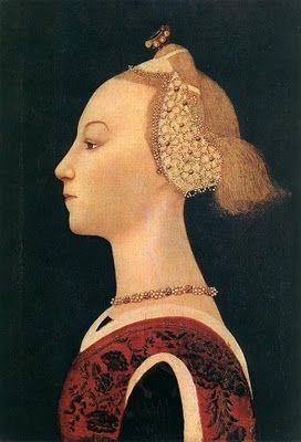 Paolo Uccello. Portrait of a Woman, 1450 Portraits of Women in Italian Renaissance Painting #TuscanyAgriturismoGiratola