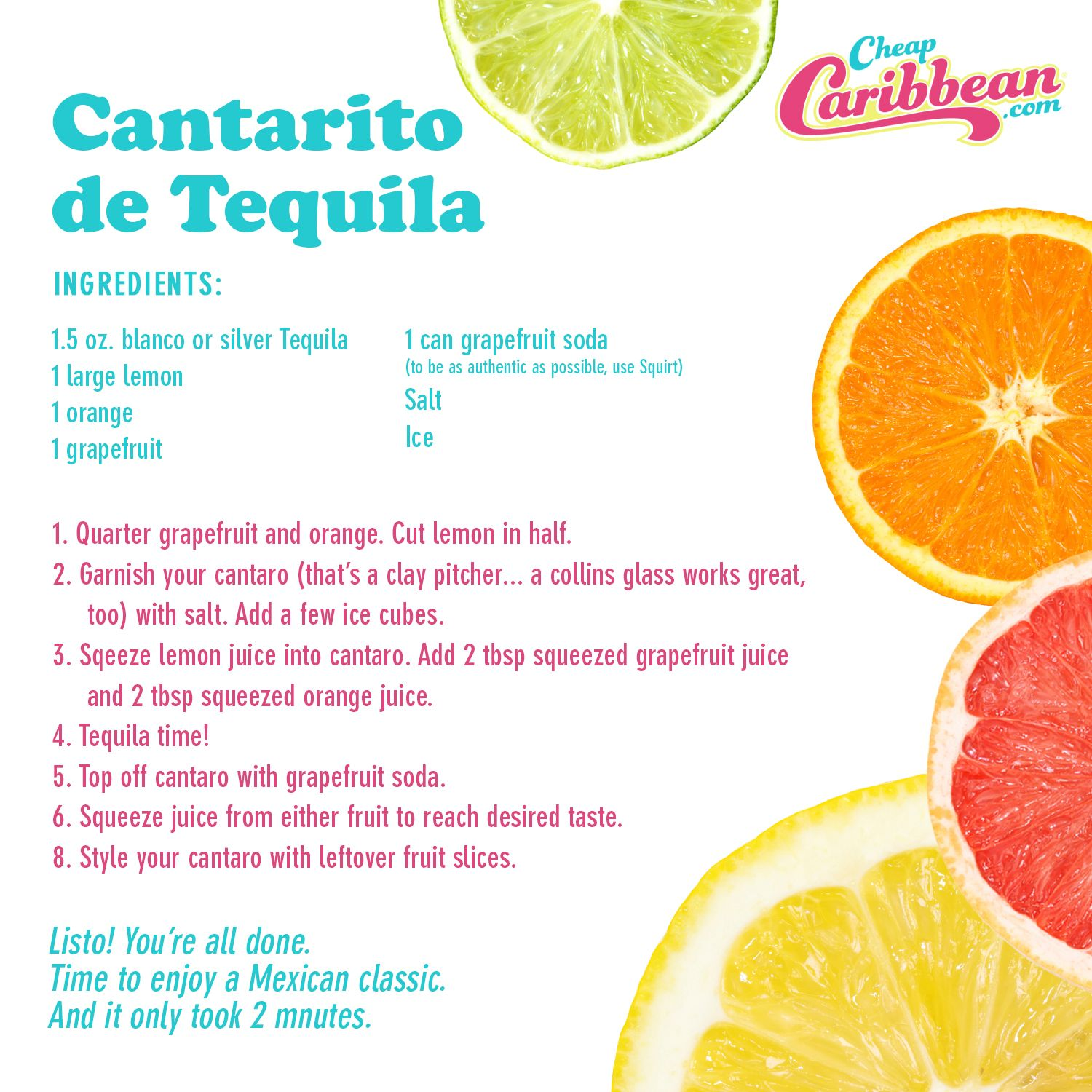 What Would A Beach Party Be Without Tequila Here S A Recipe For Cantarito De Tequila A Refreshing B Cocktail Drinks Recipes Cantaritos Recipe Mexican Drinks