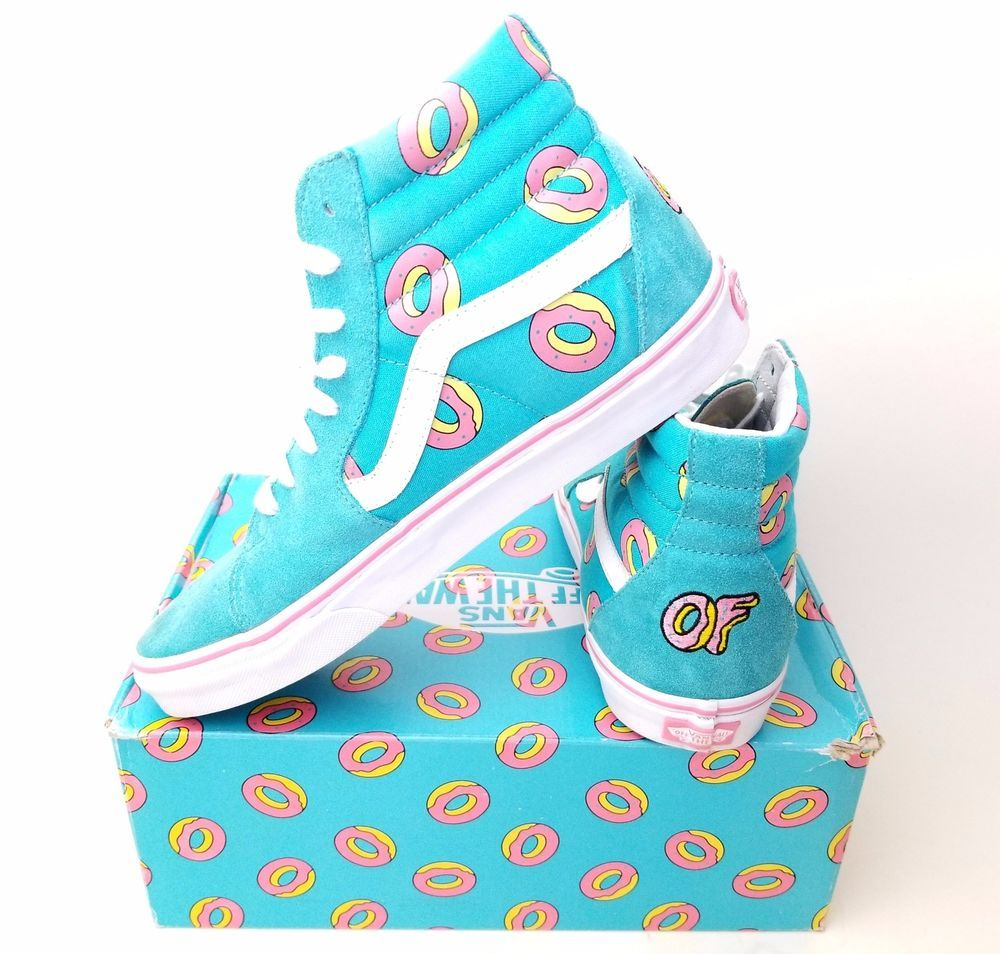 cb8a5ee822 Vans SK8 Hi OF Donut Shoes Odd Future Size 9 10.5W Golf Wang Supreme Scuba  Blue  VANS  FashionSneakers