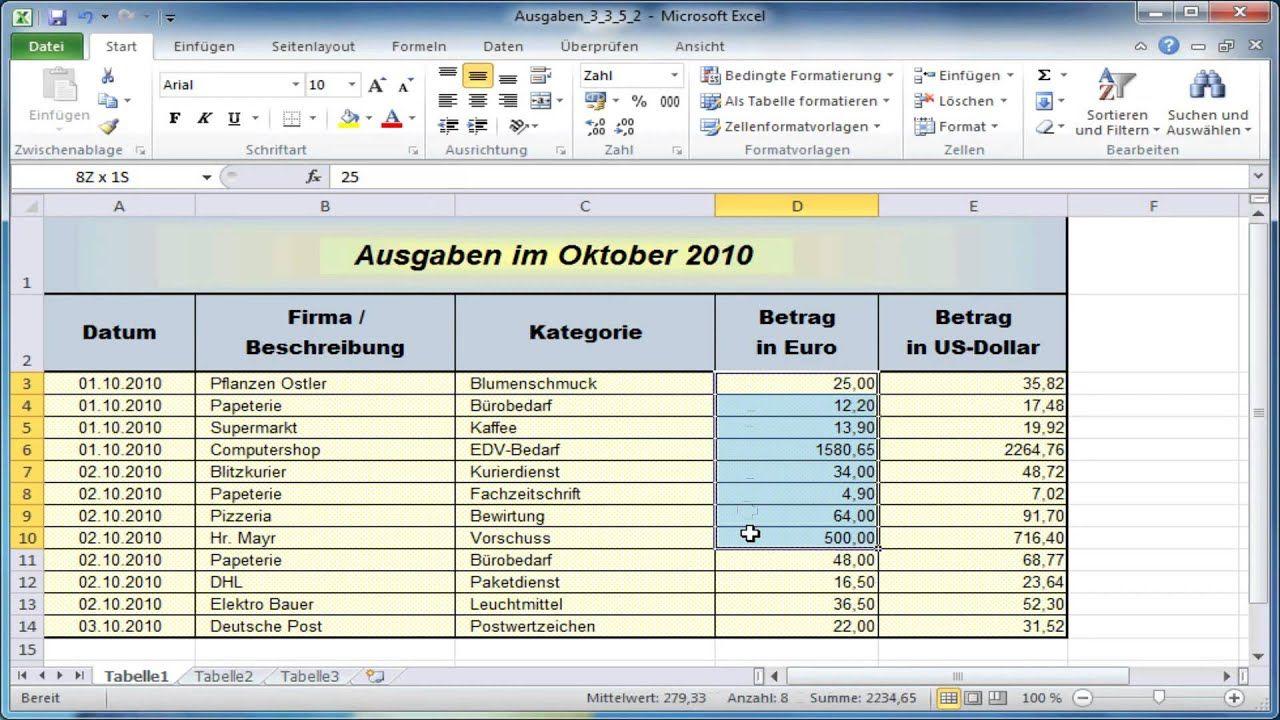 Kassenbuch Excel Download Freeware De 6