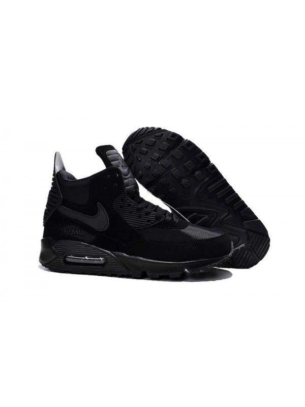 purchase cheap bcbb4 4937c Nike Air Max 90 Sneakerboot Herr Svart Blå Grå SE425251