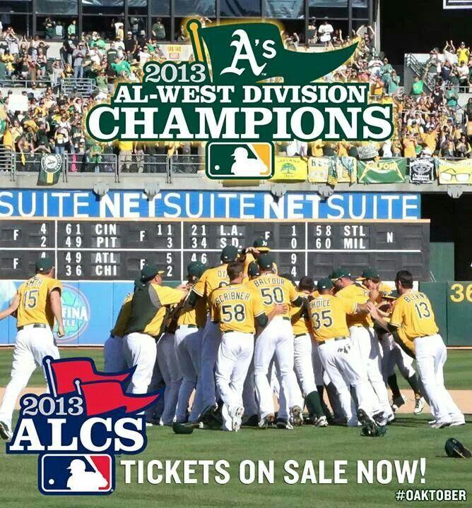 A L  West Champs 2013 | Oakland Athletics | Oakland