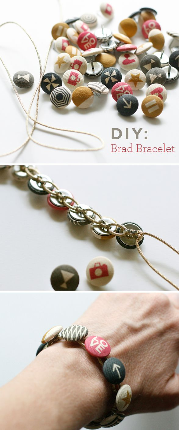 Super Awesome Brad Bracelet DIY @cosmocricketluv. Ellen Hutson LLC sells Cosmo! #ellenhutsonstore