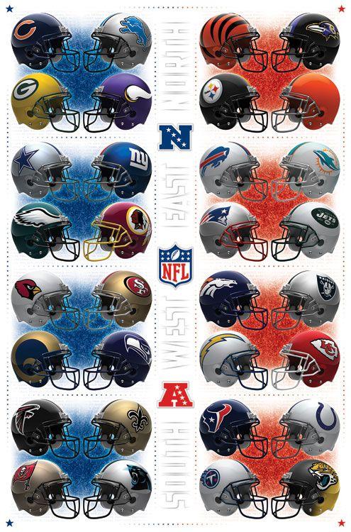 All Nfl Teams Poster Nfl Football Teams Nfl Football Helmets