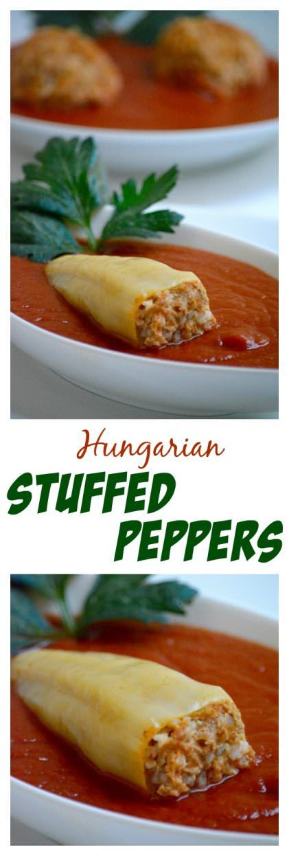 Hungarian Stuffed Peppers In Tomato Sauce Toltott Paprika Recipe In 2020 Paprika Recipes Hungarian Stuffed Peppers Stuffed Peppers