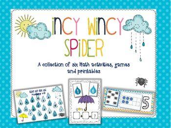 Incy Wincy Spider Math Activities