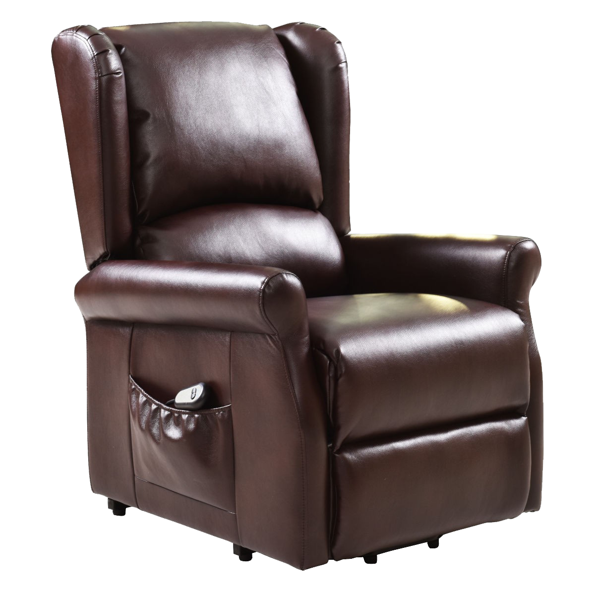 Brown Electric Lift Chair Recliner with Remote Control in
