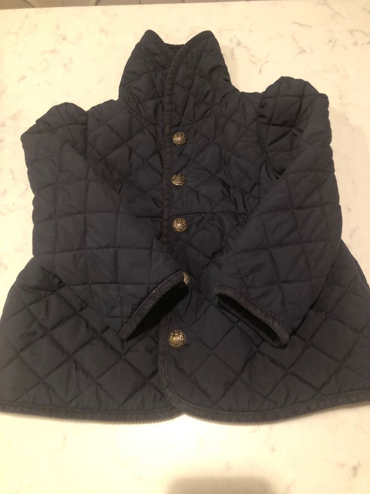 af4f0bbc4 Polo Ralph Lauren Girl s Toddler Navy Quilted Snap Jacket Size 2 2T ...