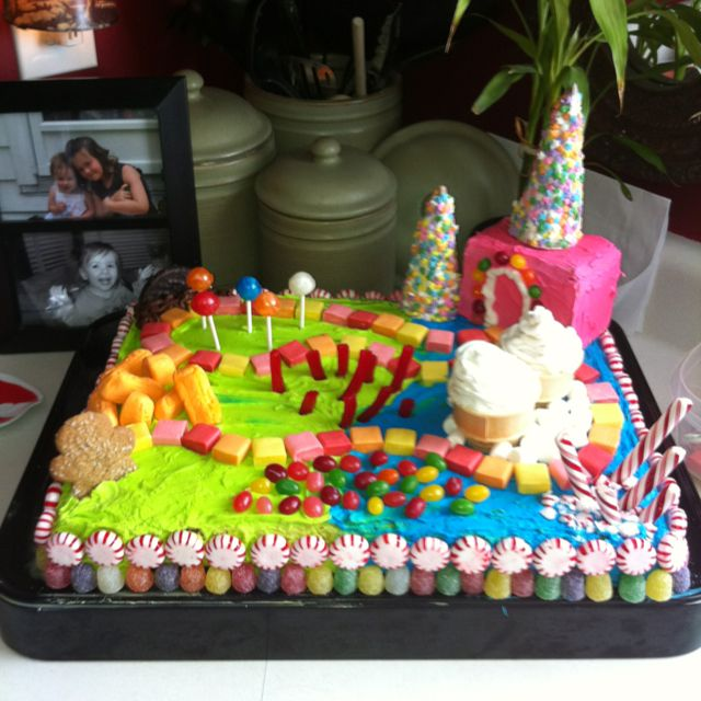 My candy land cake