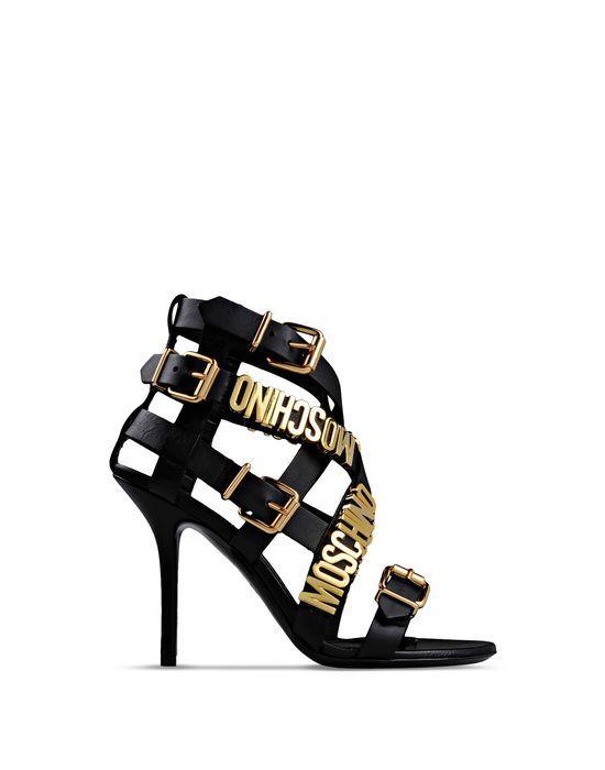 Moschino shoes, Black sandals heels