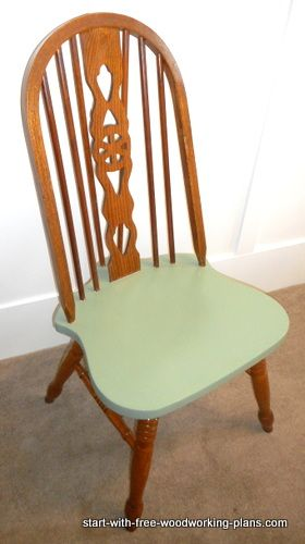 Repair Cracked And Split Chair Seat, And Paint It For A Great Chair! See