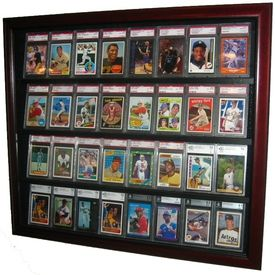 This 32 Sports Card Case Is The Best Way To Show Off Your Prized Baseball Card Collection Baseballcar Baseball Card Displays Sports Cards Display Display Case
