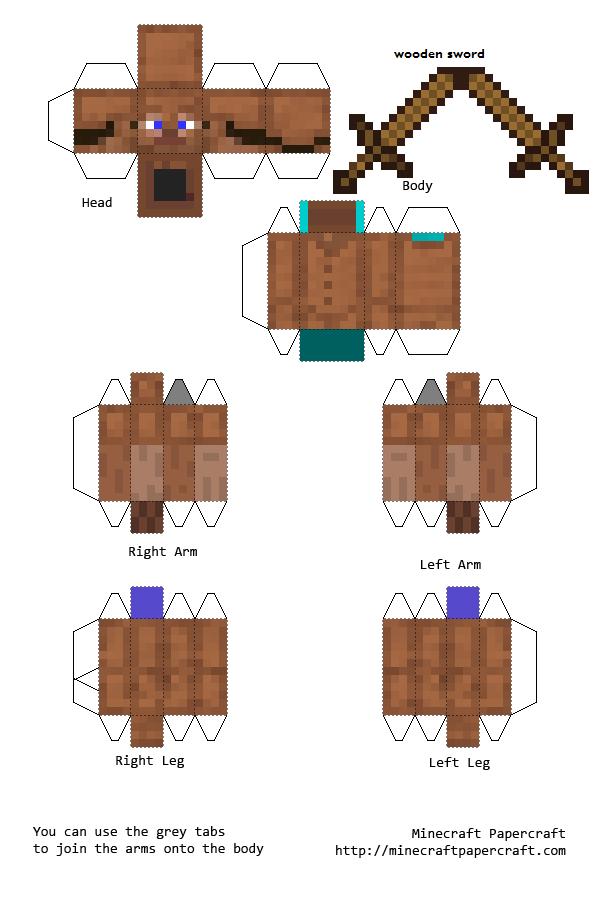 Papercraft Steve With All Armor Minecraft Printables Minecraft Crafts Minecraft Templates