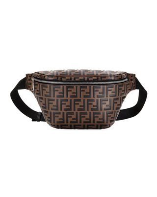 76dfea05b6d7 Fendi Men s FF Embossed Leather Belt Bag Fanny Pack
