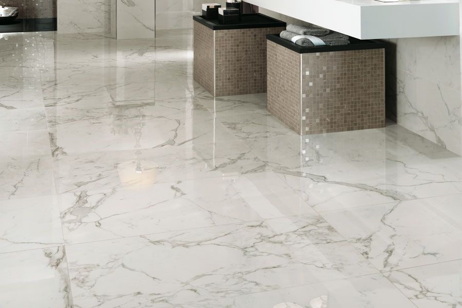 marvel porcelain in calacatta | Adam's | Marble tiles ...
