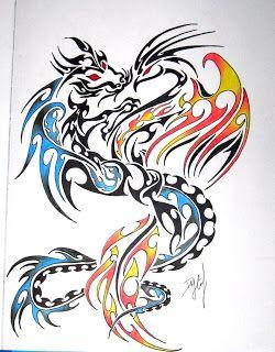 Phoenix And Dragon Tattoo Like Tattoo Phoenix Tattoo Design Tattoo Dragon And Phoenix Dragon Tattoo