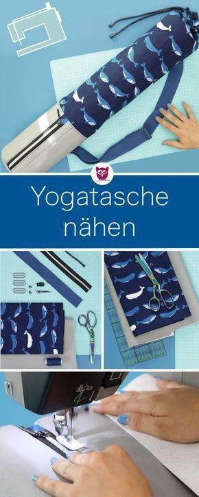 Yogatasche nähen für die Yogamatte mit zusätzlichem ...