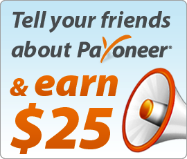 You and your #friend both get $25, Each time you refer him to sign up for #payoneer