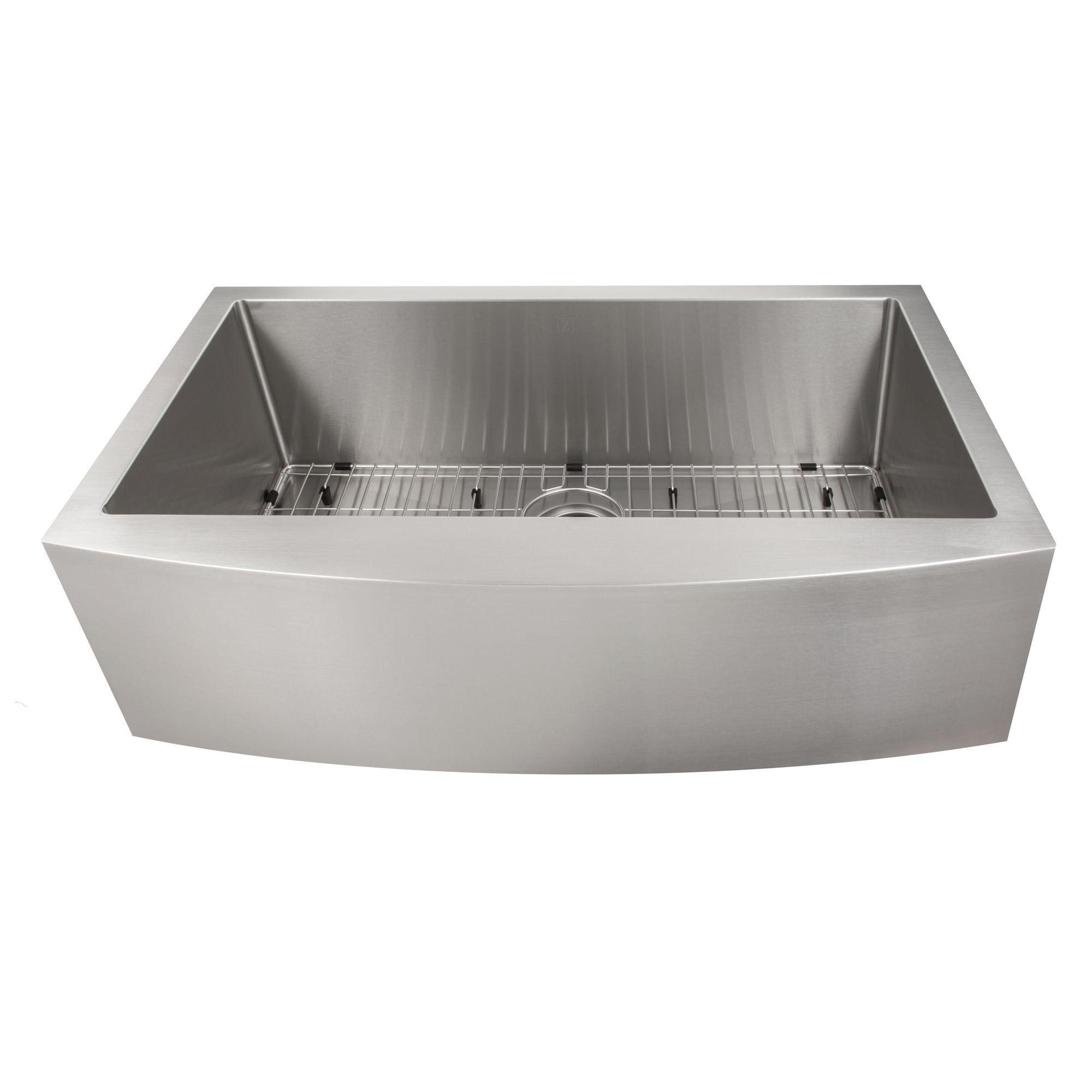 Zline Vail Farmhouse 33 Inch Undermount Single Bowl Sink In