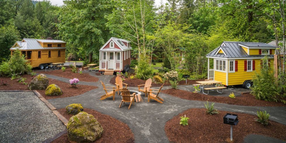 Take A Tour Around This Adorable Tiny House Village In Oregon Tiny House Village Tiny House Community Tiny House Rentals