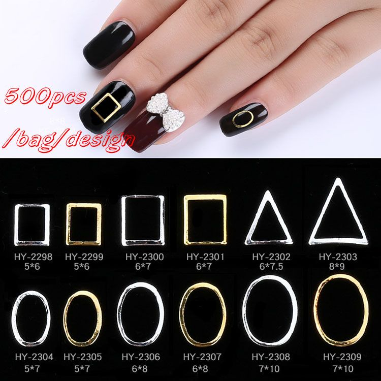 free sample nail art metal pieces designs decoration products with ...