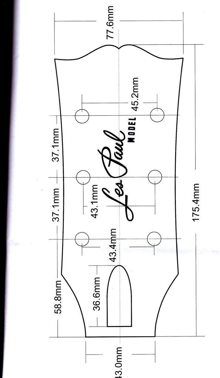 Les Paul Headstock #guitarbuilding Les Paul Headstock