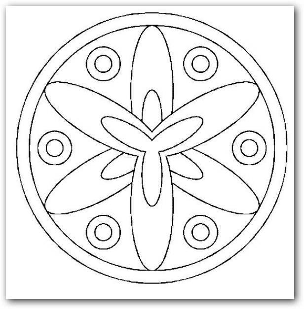 Mandala sencilla para colorear | mandalas | Pinterest | Embroidery ...