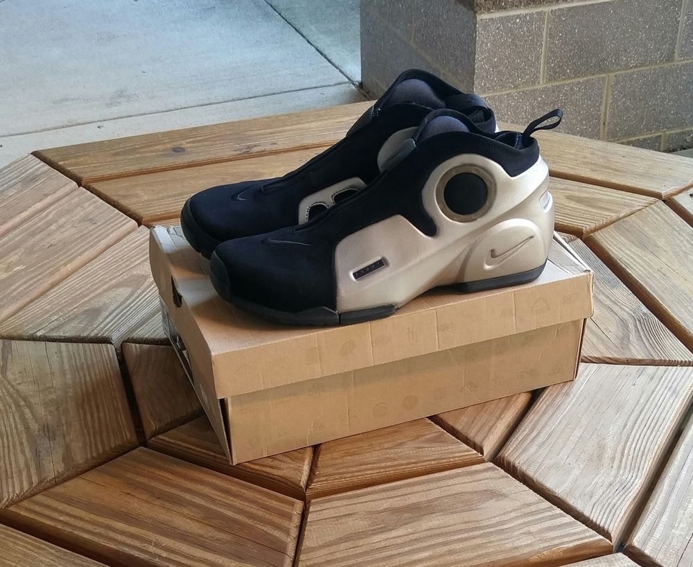 569645aabb4b Nike Air Flightposite II LE - Metallic Zinc Kevin Garnett Shoes NEW ...
