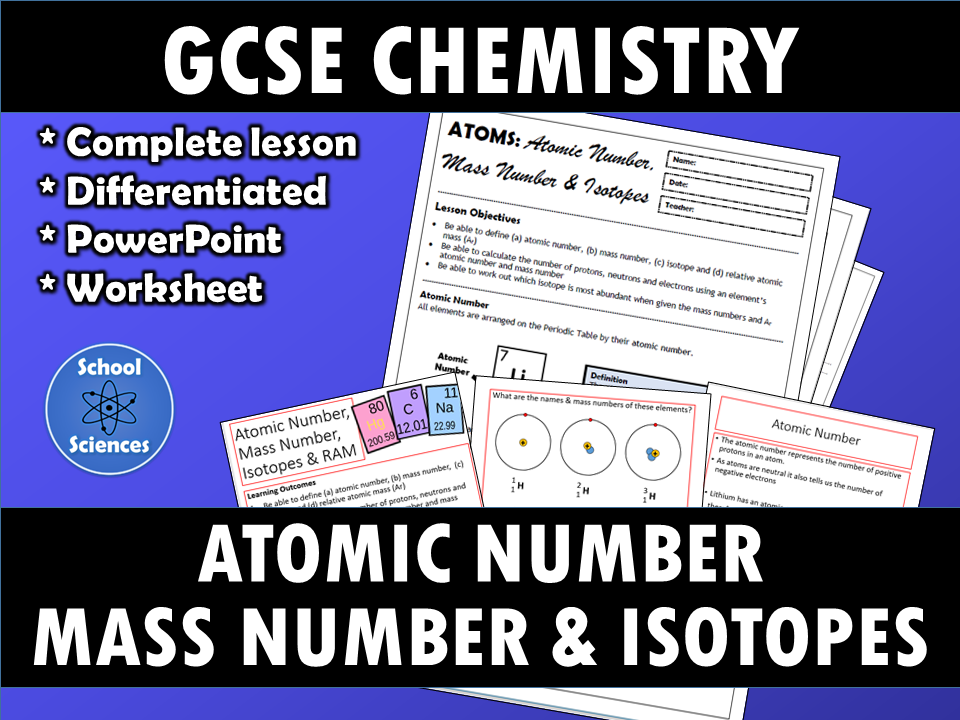 Atomic Number, Mass Number and Isotopes | Secondary: GCSE