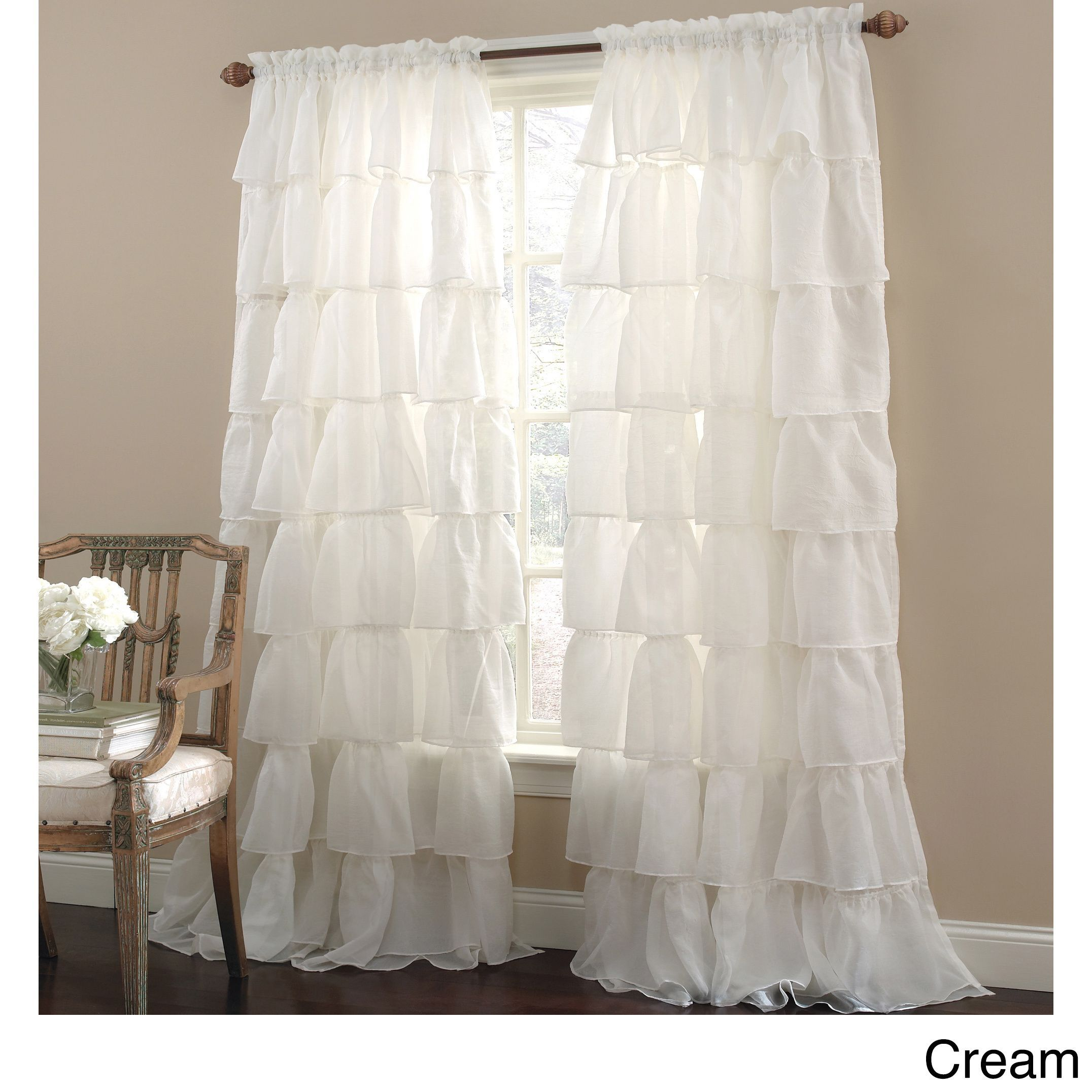 Crushed Voile Bouffant Assorted Colors 60 Inch X 84 Inch Window