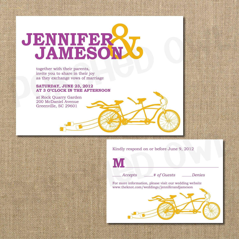 Tandem Bicycle Wedding Invitation | wedding ideas I | Pinterest ...