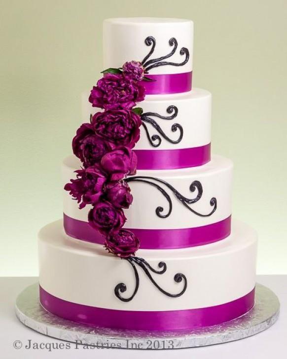 Fuschia Wedding Cake ( I think I found my future cake) | Beautiful ...