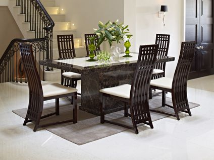 Dark Wood Dining Room Furniture   Dining And Kitchen Design Ideas   1216