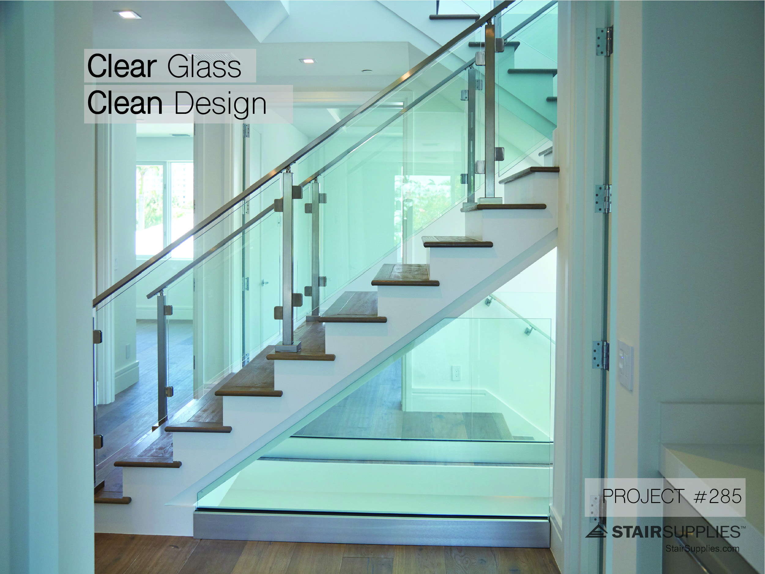 Completed Project 285 Stairsupplies Glass Stairs Staircase Remodel Staircase Design