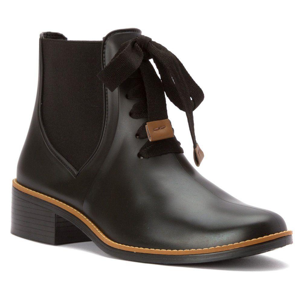 Black Bernardo Womens Boots Boot Lacey Rain