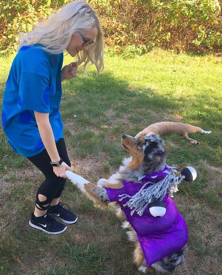 Sully And Boo Dog Owner Costume