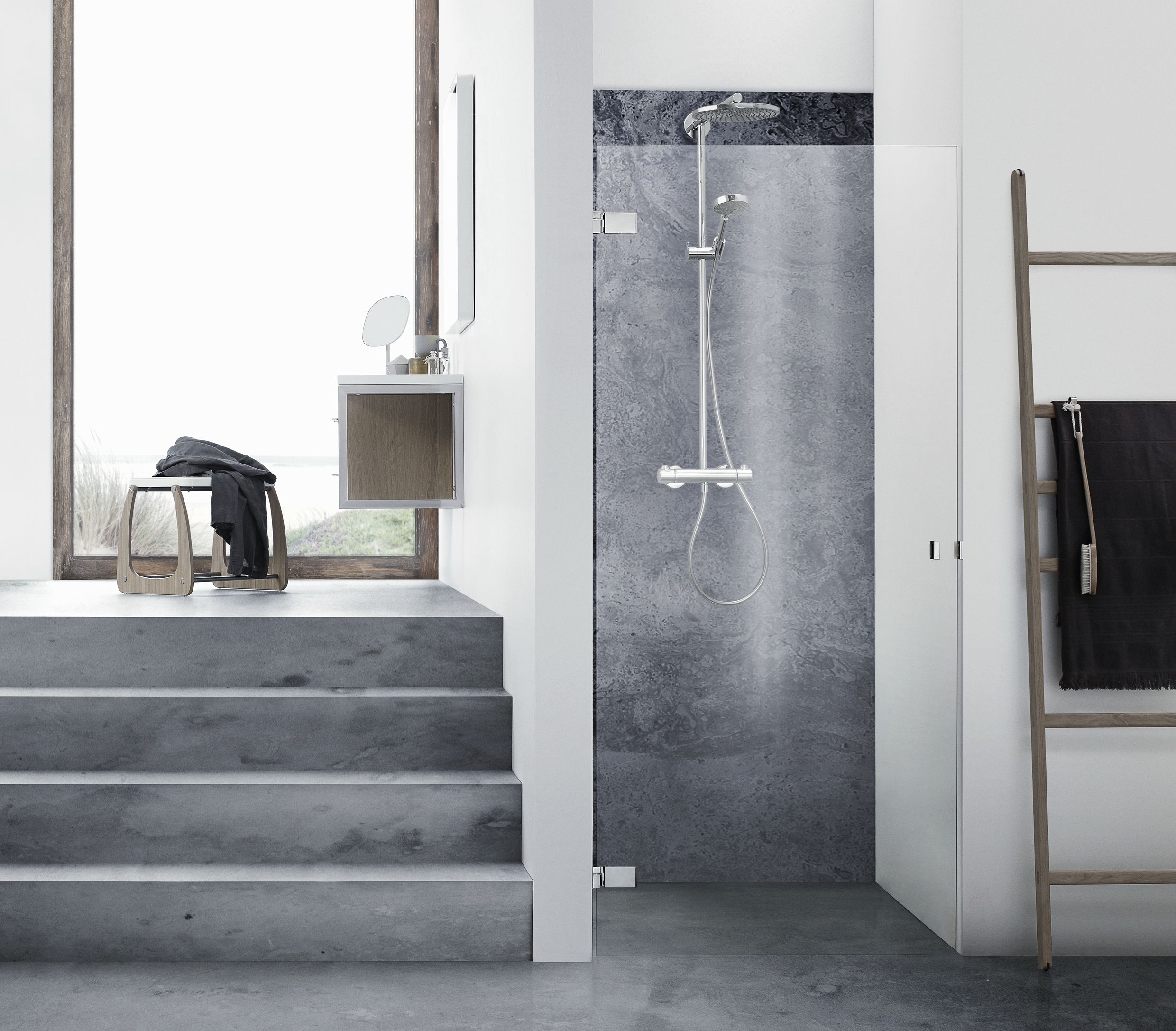 Badekar Installation The Danani Air Niche Shower Solution With Single Door For