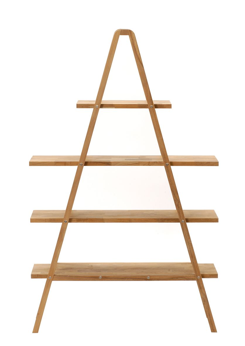 Creative A Shaped Decorative Shelving Unit Design With Wooden