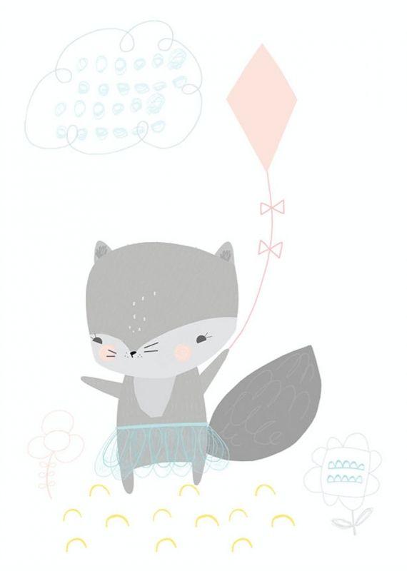 Vicky Riley Wolfje met vlieger Ilustraciones de