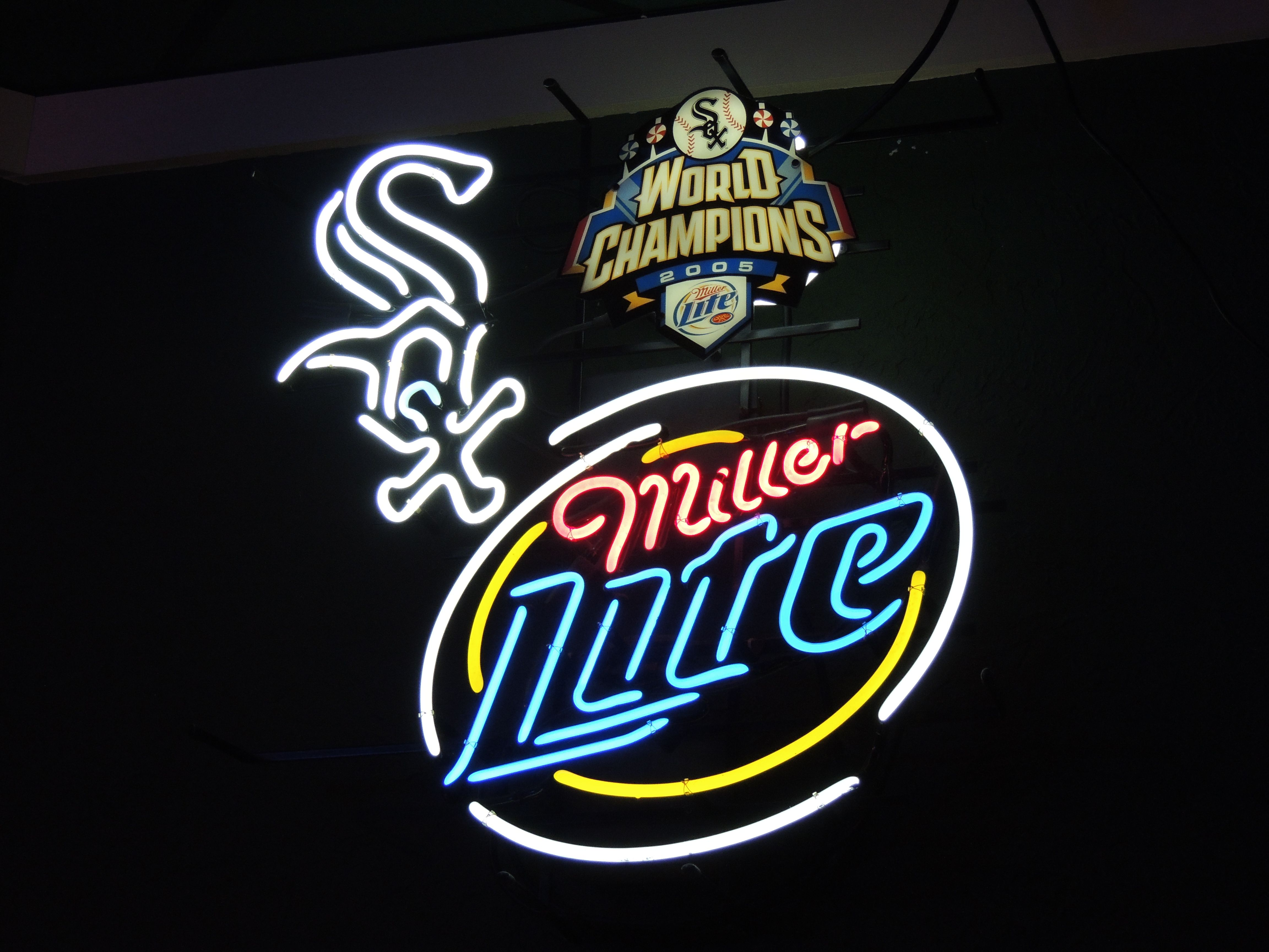 Neon Beer Sign Chicago White Sox World Champions Mlb