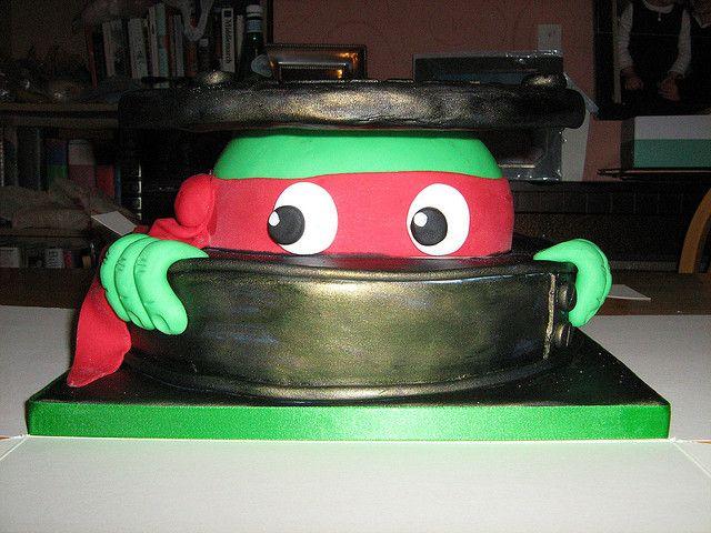 Ninja Turtle Cake Raphael Fairy cakes Ninja turtles and Turtle