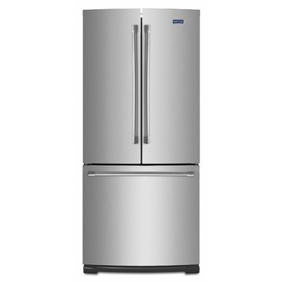 Maytag Mfw2055drm 19 7 Cu Ft 3 French Door Refrigerator Single Ice Maker Stainless Steel