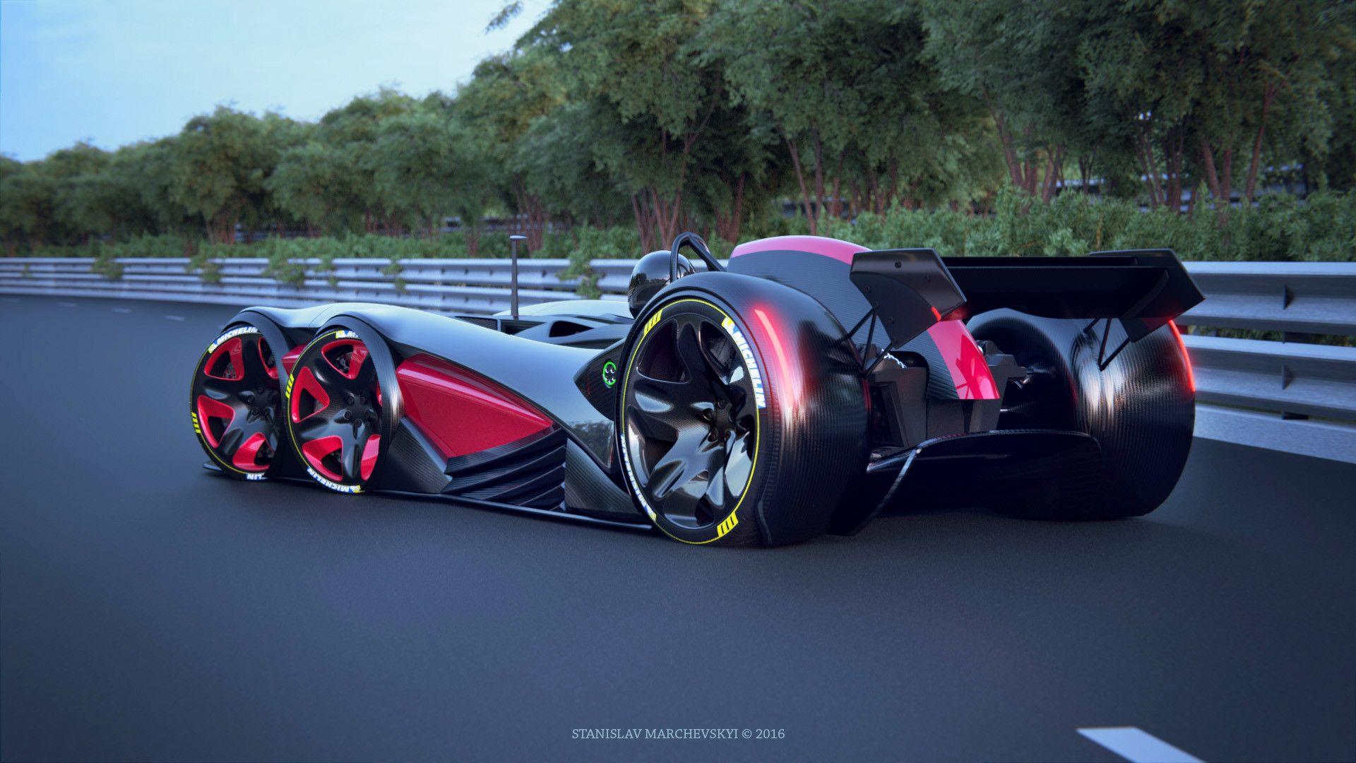 Artstation 6 Wheels Racing Car Stanislav Marchevsky Race Cars Futuristic Cars Future Concept Cars