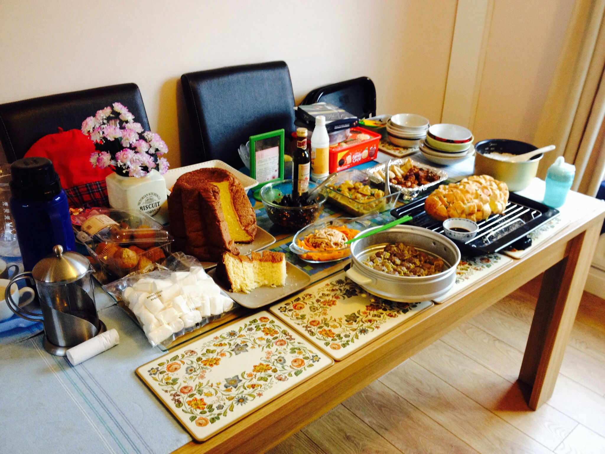 Love feast at Christina's place, Newcastle, GB